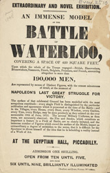 Advert for a Model of the Battle of Waterloo